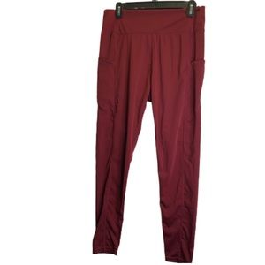 NWOT Burgundy workout pants